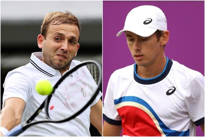 オリンピック開催間近で陽性反応を示したデミノー(右)とエバンス(左)。(C)Getty Imaes