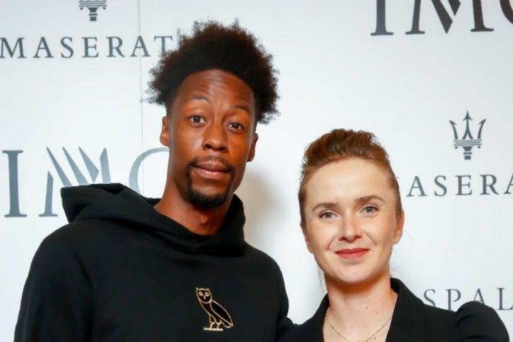 """ついに""""モンフィス夫妻""""となったモンフィスとスビトリーナ。(C)Getty Images"""