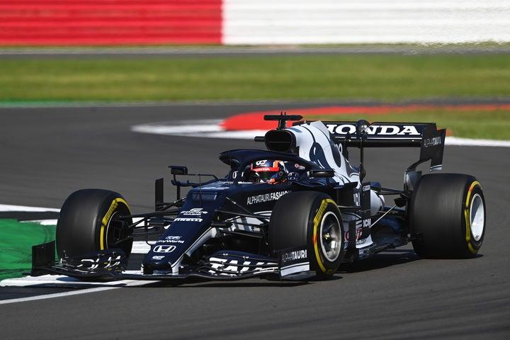 角田は粘り強い走りで10位入賞。今季4度目のポイント獲得を果たした。(C)Getty Images
