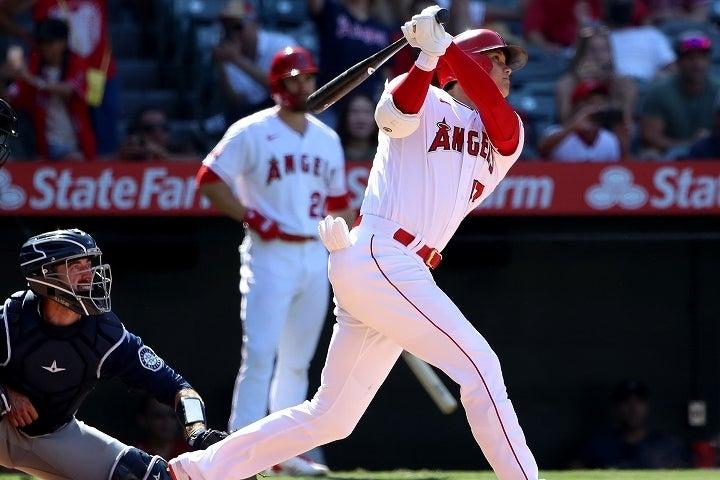 厳しい攻めにも動じずにホームランを放った大谷。その打棒に驚く声が相次いでいる。(C)Getty Images