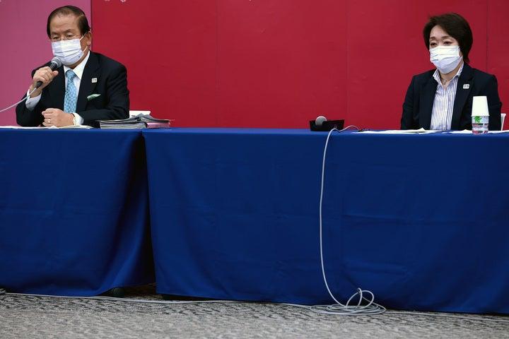 海外プレスの質問に対応した橋本聖子東京五輪・パラリンピック組織委員会会長。写真は7月9日の会見時のもの。 (C)Getty Images