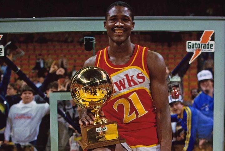 ウィルキンスはオールスターのダンクコンテストに最多タイとなる5回出場。うち4回は決勝まで勝ち残り、1985、90年には優勝を飾っている。(C)Getty Images