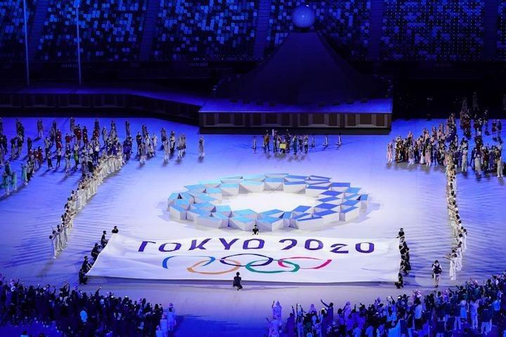 無観客で開催された東京オリンピックの開会式。(C)Getty Images