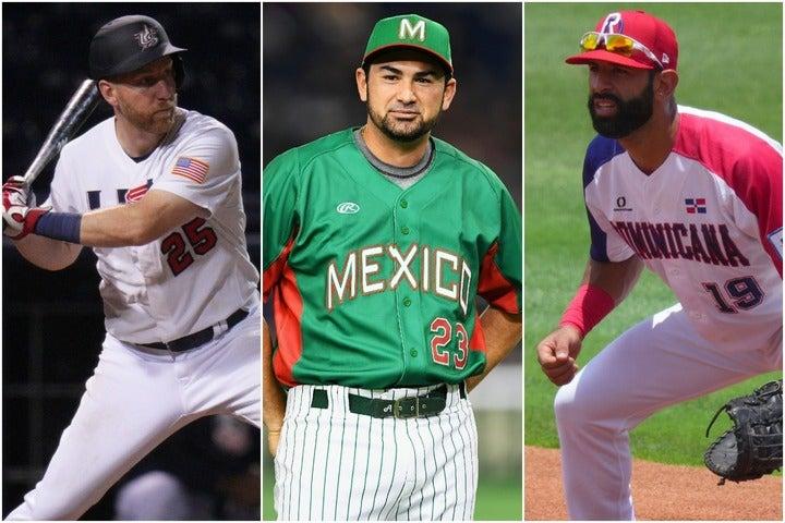 左からフレイジャー、ゴンザレス、バティスタ。メジャーリーグで一時代を築いた選手たちが金メダルを目指して戦う。(C)Getty Images