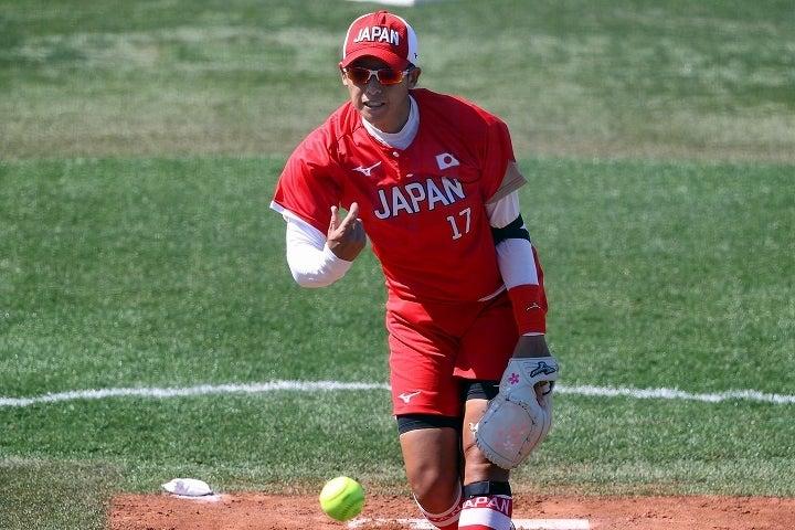 ベテランエースの上野は、堂々たるピッチングで日本を勝利に導いた。(C)Getty Images
