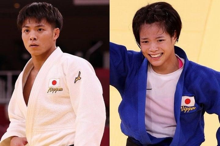 兄・一二三(左)と妹・詩(右)が兄妹での金メダル獲得という偉業を成し遂げた。(C)Getty Images