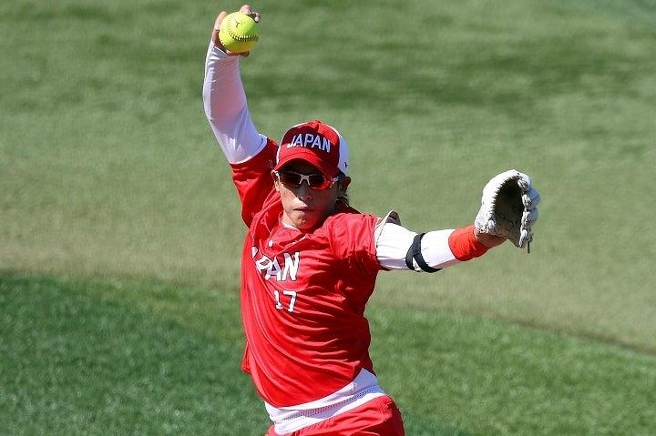堂々たる投球でカナダ打線を寄せ付けなかった上野。自身のピッチングについては冷静に分析した。(C)Getty Images