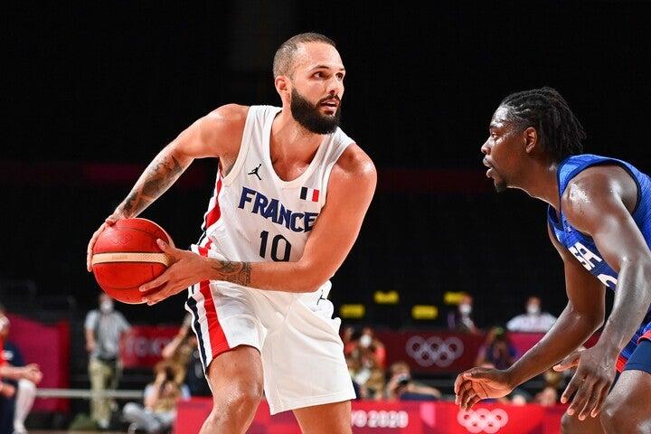 28得点をあげたフォーニエの活躍もあり、フランスがアメリカに勝利。波乱の大会を予感させる幕開けとなった。(C)Getty Images