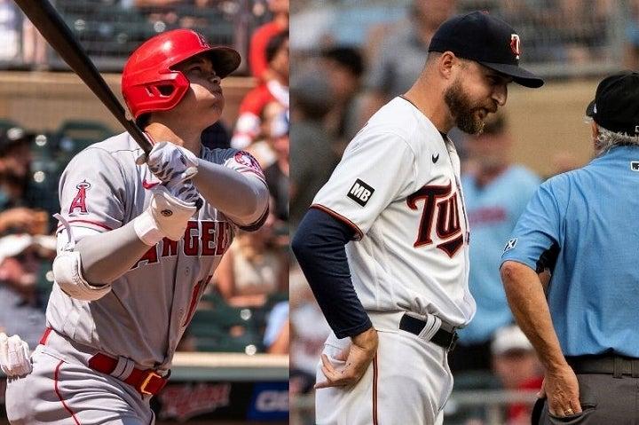大谷(左)との勝負を避け、ブーイングも浴びたバルデッリ監督(右)。その采配に至った理由も明かしている。(C)Getty Images