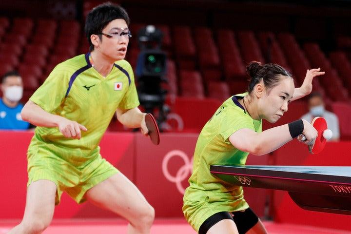 中国の待つ決勝へ駒を進めた水谷/伊藤ペア。日本卓球界に初の金メダルをもたらせるか。(C)Getty Images