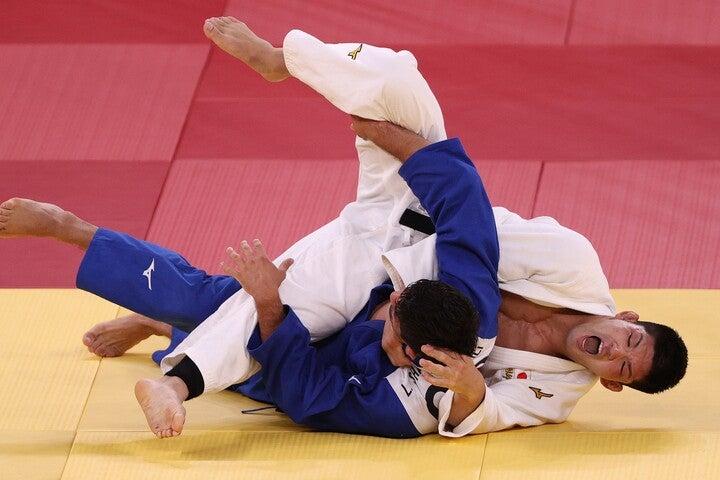 気迫の籠った柔道をみせた大野は、五輪連覇を飾った。(C)Getty Images