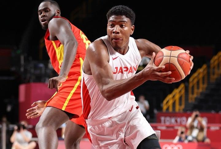 八村はオリンピック初戦で20得点と上々のスタートを切ったが、本人は満足していない様子だった。(C)Getty Images