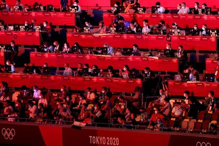 東京五輪には海外から約1万6000人のメディア関係者が訪れている。(C)Getty Images