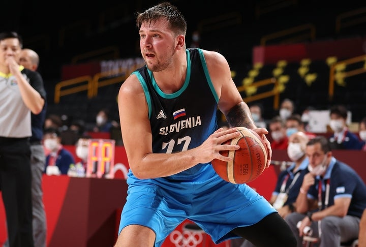 ドンチッチはアルゼンチン相手に48得点、11リバウンド、5アシストを叩き出し、スロベニアを五輪初勝利に導いた。(C)Getty Images