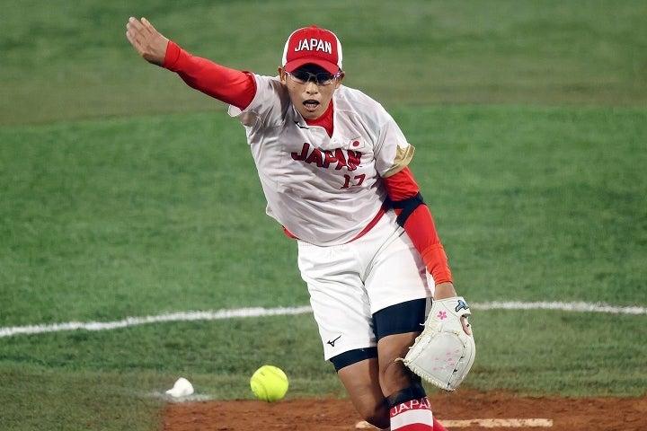宿敵アメリカを前に貫録のピッチングで立ちふさがった上野。39歳のベテランが日本を頂点に導いた。(C)Getty Images