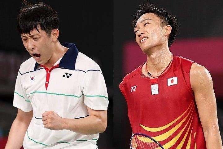 世界王者である桃田(左)から勝利を挙げた許コウ熈(左)。その大金星に賛辞が集まっている。(C)Getty Images