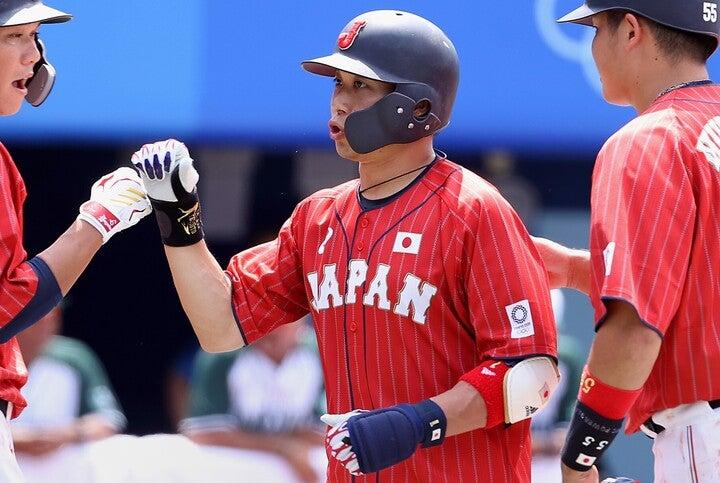 大事な試合で最高の仕事を見せた山田。さすがは長きにわたって日の丸を背負ってきた男だ。)(C)Getty Images