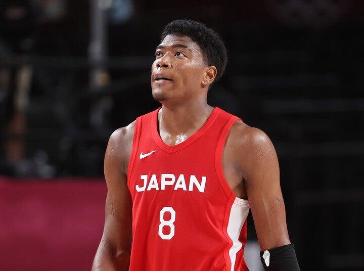 日本のエースとして奮闘した八村。3試合で平均22.3点を記録したが、勝利に導くことはできなかった。(C)Getty Images
