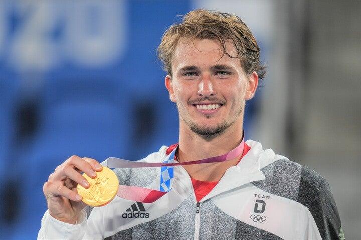 オリンピック初出場ながら男子シングルスで見事金メダルを獲得したズベレフ。(C)Getty Images