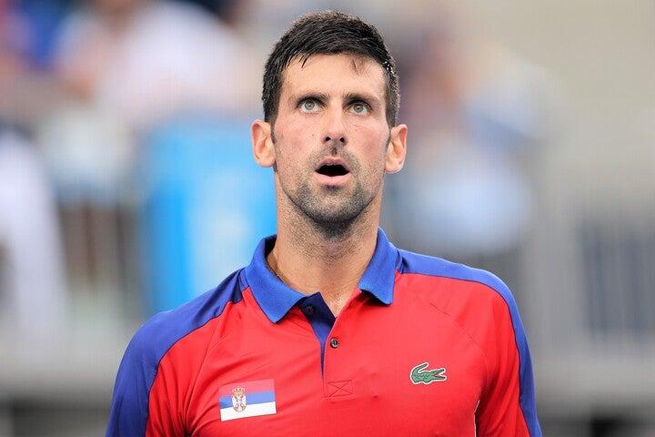 メダル獲得に及ばなかったジョコビツチだったが、まだ『年間グランドスラム』の可能性は残っている。(C)Getty Images