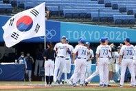 メダルなしという想定外の結果に終わった韓国代表。国内ではいまだ非難の的となっている。(C)Getty Images