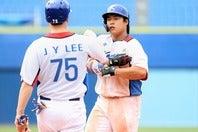 """韓国代表の次代を担う主砲候補、カン・ペクホ。本人の釈明で""""ガム騒動""""も終息に向かうか。(C)Getty Images"""