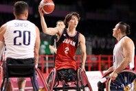 東京パラリンピック初戦で勝利をあげた日本。鳥海がトリプルダブルの活躍でチームを牽引した。(C)Getty Images