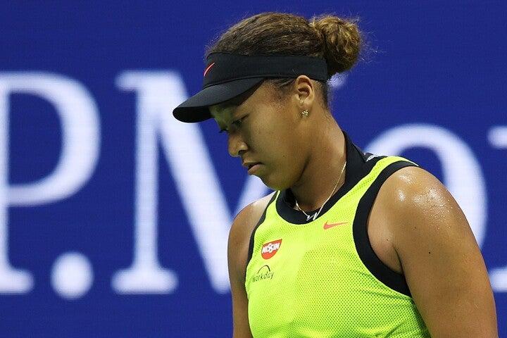 全米オープン3回戦に敗れ、「しばらくテニスから距離を置きたいと思う」と宣言した大坂。(C)Getty Images