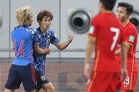 エース大迫の一撃で今予選初勝利を飾った日本。そのパフォーマンスを海外メディアはどう見たのか? (C)Getty Images