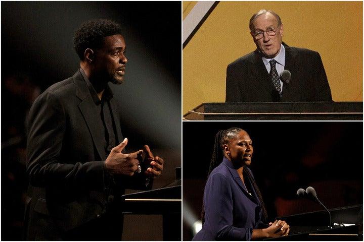 """今年の殿堂入り式典には、ウェバー(左)、アデルマン(右上)、グリフィス(右下)と、3人の""""サクラメント民""""が登壇した。(C)Getty Images"""