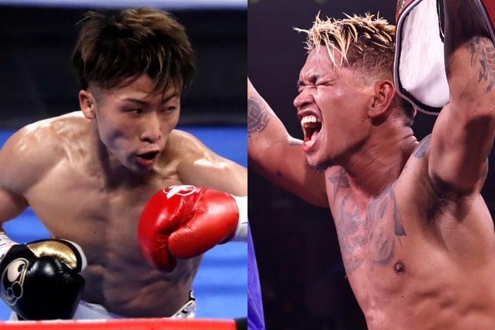 互いに対戦希望を公言する井上(左)とカシメロ(右)。はたして対戦はいつ実現となるのか。(C)Getty Images