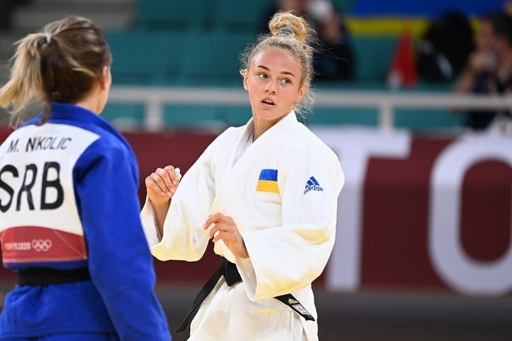 いまやウクライナの国民的アイドルとなったビロディド。パリ五輪で悲願の金メダル奪取なるか。(C)JMPA