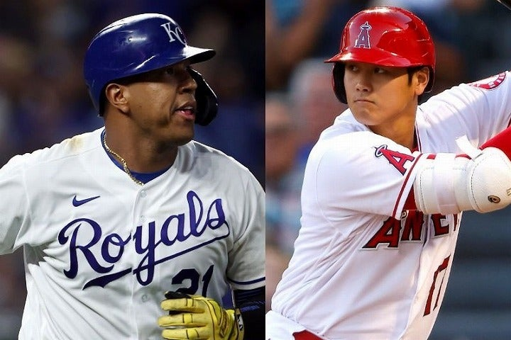 本塁打数で大谷(右)に並んだペレス(左)。その打棒に賛辞が相次ぐ一方で……。(C)Getty Images