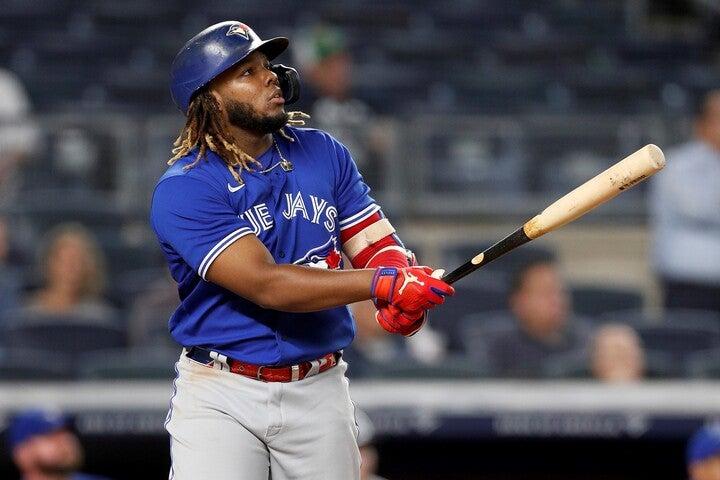三冠王が見える位置につける22歳のゲレーロJr。本塁打数は現在45本を記録している。(C)Getty Images