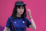 東京五輪では女子25mピストルで5位入賞を果たしたウ・チャイン。(C)AFLO