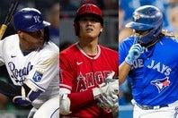 白熱した本塁打レースを繰り広げる3人。それぞれ米国以外の出身という珍しい顔ぶれだ。(C)Getty Images