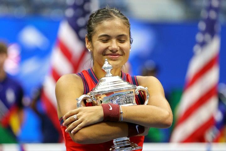 全米オープンで衝撃的な優勝を果たしたラドゥカヌ。(C)Getty Images