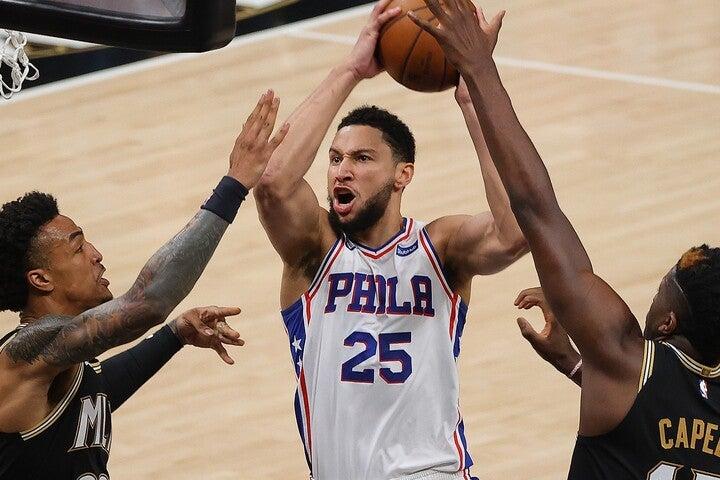 守備を含めた実力はNBAでも指折り。シモンズは再び自信を取り戻せるか。(C)Getty Images