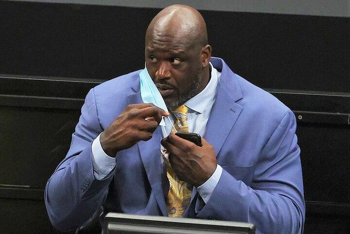 スーパーチームを作る現役選手たちに対し、シャックは「怠け者で覇気がない」「プリンのように柔く甘い」と痛烈批判。(C)Getty Images