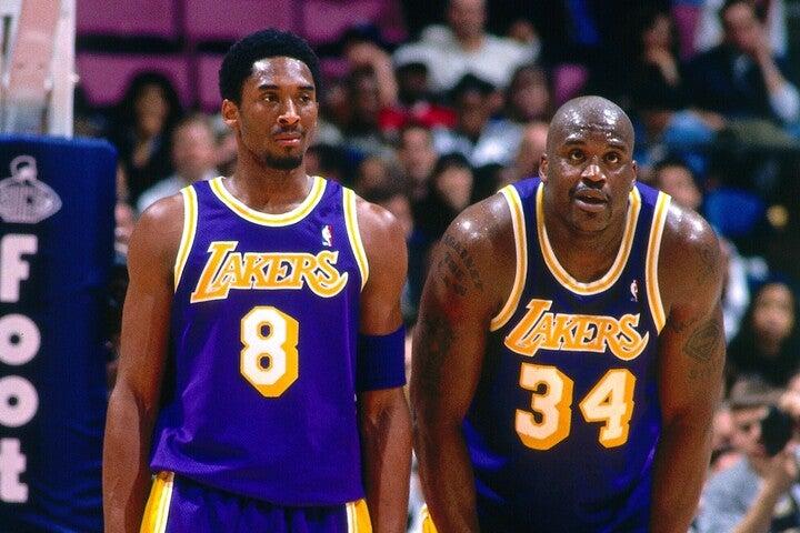 マーティンは守るのがタフな選手にコビー(左)、止められなかった相手にシャック(右)の名前を挙げた。(C)Getty Images