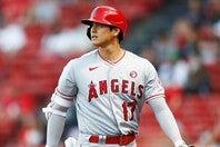 投げては9勝、打っては45本塁打の大谷。圧倒的なシーズンの最終週、どのようなプレーを見せるのだろうか。 (C) Getty Images