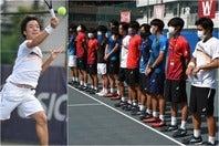 新記録の16連覇に向け、順当に大学王座の切符を手にした早稲田大学。エースの白石光(左)は単複で勝利を挙げた。写真:スマッシュ編集部