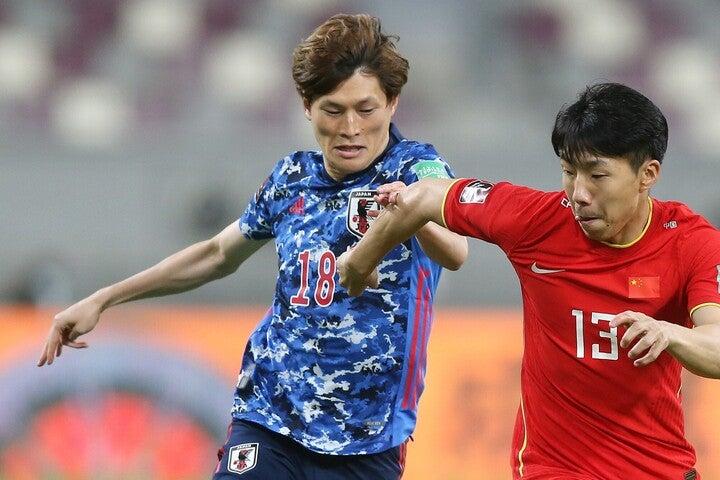 今、日本人選手で最も得点感覚が冴えているといっても過言ではない古橋を、ゴールに近い位置でプレーさせるのは有効な選択肢になるだろう。(c)Getty Images