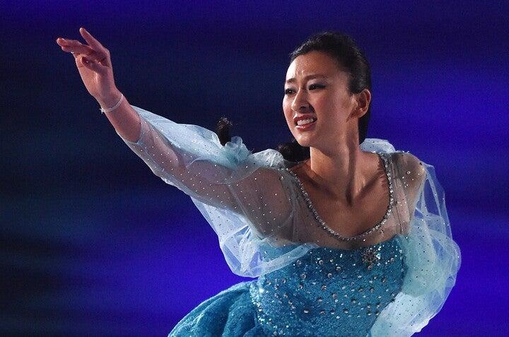 元フィギュアスケート選手で、現役引退後はスポーツキャスター、タレントとして活躍している浅田舞さん。(C)Getty Images