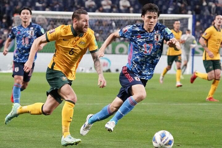 背水の陣で臨んだ日本は、開始8分に田中(17番)のゴールからリズムをつくった。(C)Getty Images