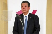 ビーチバレーの文書偽造問題で処分を受ける日本バレーボール協会の嶋岡健治会長 写真:北野正樹