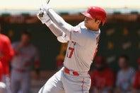 打った瞬間に相手投手が思わず下を向いてしまうほどの一撃だった19号。小気味よく駆け出した大谷にも手ごたえがあったのは間違いない。(C)Getty Images