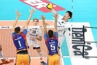 イタリアセリエAの今シーズン初戦に臨んだバレーボール男子日本代表の石川。(C)Lega Pallavolo Serie A