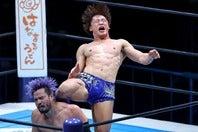 KENTAに渾身のカミゴェを浴びせた飯伏。G13連覇へ王者が力強さを見せつけた。写真:塚本凜平(THE DIGEST写真部)