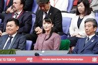 10月26日をもって日本テニス協会名誉総裁を退任される眞子さま(写真は2019年の楽天オープン観戦時)。(C)Getty Images